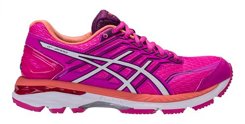 Womens ASICS GT-2000 5 Running Shoe - Pink/Purple 7.5