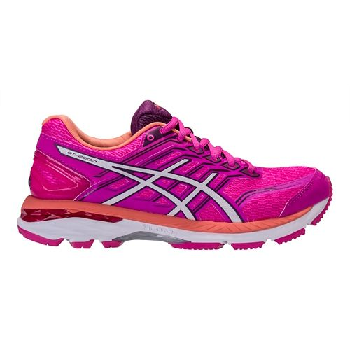 Womens ASICS GT-2000 5 Running Shoe - Pink/Purple 6.5