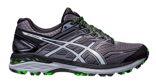 Mens ASICS GT-2000 5 Trail Running Shoe - Carbon/Green 8