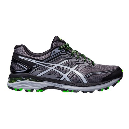 Mens ASICS GT-2000 5 Trail Running Shoe - Carbon/Green 7.5