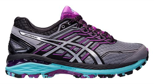 Womens ASICS GT-2000 5 Trail Running Shoe - Grey/Orchid 11.5
