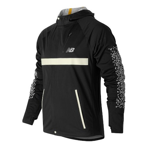 Mens New Balance Beacon Running Jackets - Black L