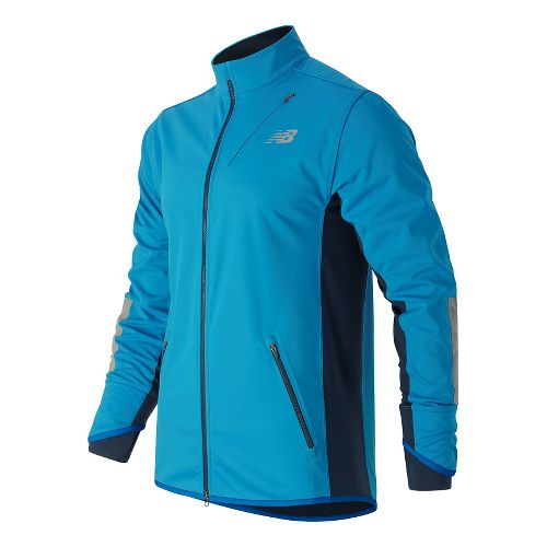 Mens New Balance Windblocker Running Jackets - Barracuda M