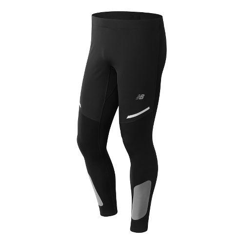 Mens New Balance Windblock Tights & Leggings Pants - Black M