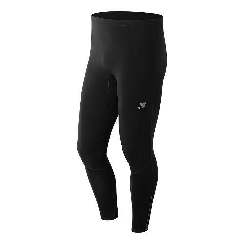 Mens New Balance NB Heat Tights & Leggings Pants - Black XL
