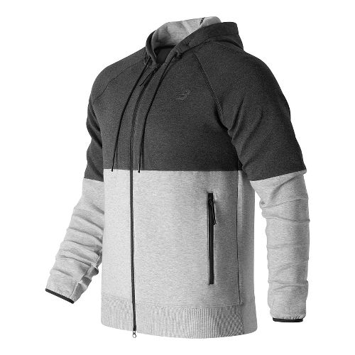 Mens New Balance Sport Style Full Zip Casual Jackets - Athletic Grey M