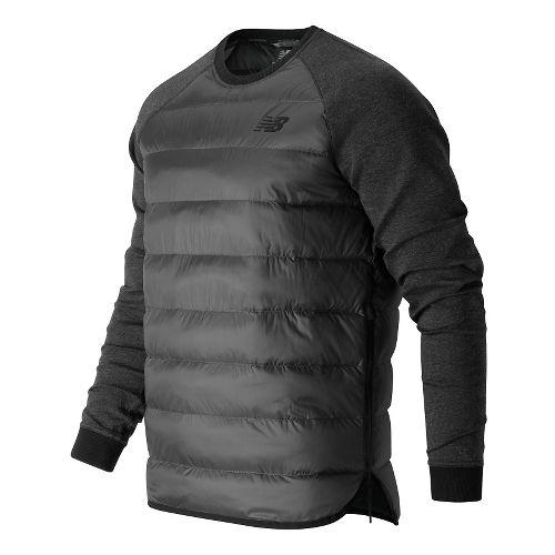 Mens New Balance Sport Style Down Hoodie & Sweatshirts Technical Tops - Black M