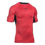 Mens Under Armour HeatGear Compression Printed Short Sleeve Technical Tops