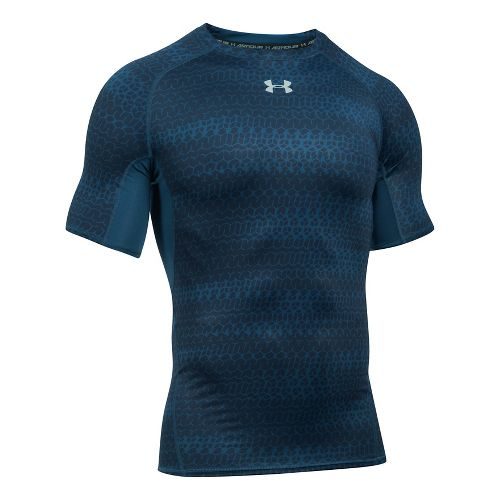 Mens Under Armour HeatGear Armour Compression Printed Short Sleeve Technical Tops - ...