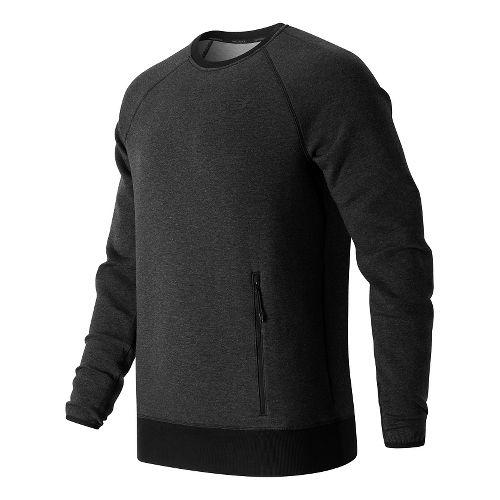 Mens New Balance Sport Style Crew Long Sleeve Technical Tops - Black L
