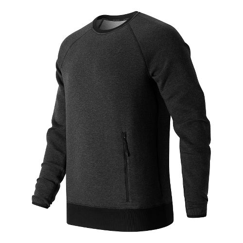 Mens New Balance Sport Style Crew Long Sleeve Technical Tops - Black XL