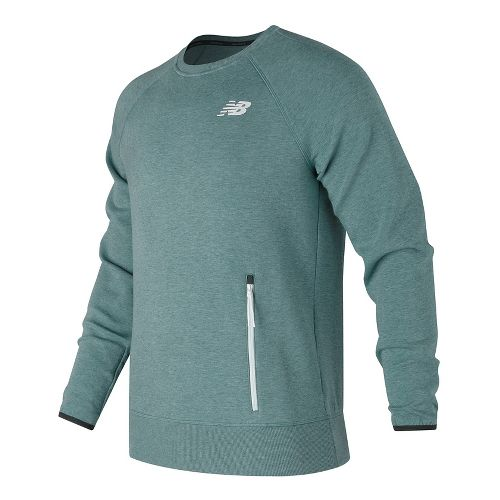 Mens New Balance Sport Style Crew Long Sleeve Technical Tops - Typhoon Heather L