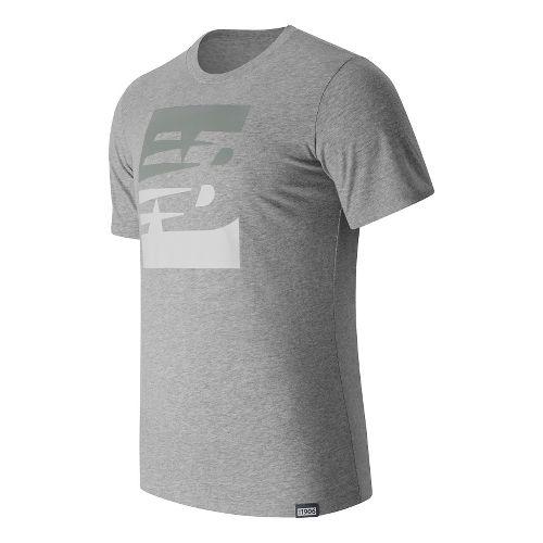 Mens New Balance Split Sport Style Tee Short Sleeve Technical Tops - Athletic Grey XXL ...