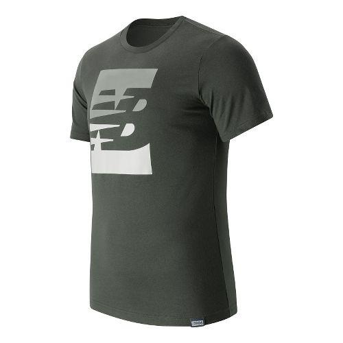 Mens New Balance Split Sport Style Tee Short Sleeve Technical Tops - Grove L