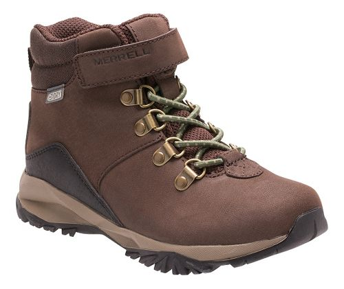Kids Merrell Alpine Casual Boot Waterproof Hiking Shoe - Brown 13C