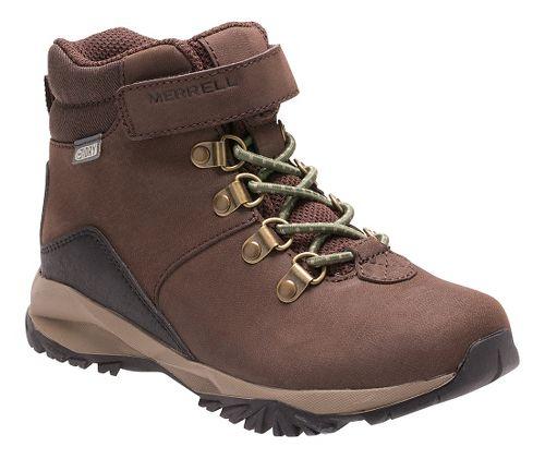 Kids Merrell Alpine Casual Boot Waterproof Hiking Shoe - Brown 4.5Y