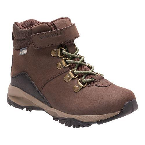 Kids Merrell Alpine Casual Boot Waterproof Hiking Shoe - Brown 5Y