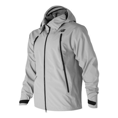Mens New Balance 3 Layer Cold Weather Jackets - Silver Mink S