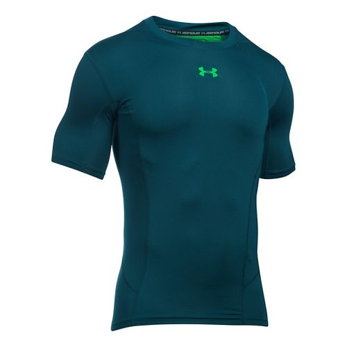 Mens Under Armour HeatGear Supervent Short Sleeve Technical Tops - Nova Teal/Green XL