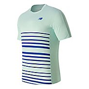 Mens New Balance Tournament Crew Short Sleeve Technical Tops