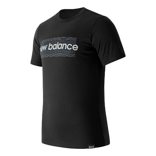 Mens New Balance Grid Tee Short Sleeve Technical Tops - Black M