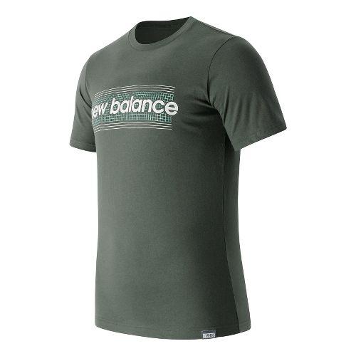 Mens New Balance Grid Tee Short Sleeve Technical Tops - Grove S