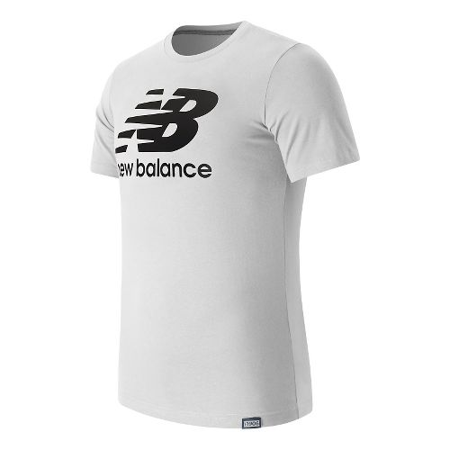 Mens New Balance Classic Logo Tee Short Sleeve Technical Tops - White M