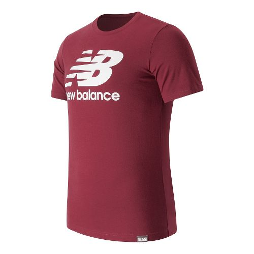 Mens New Balance Classic Logo Tee Short Sleeve Technical Tops - Sedona M