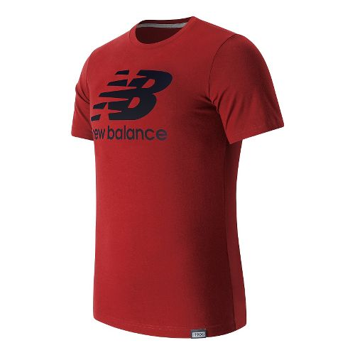 Mens New Balance Classic Logo Tee Short Sleeve Technical Tops - Envy M