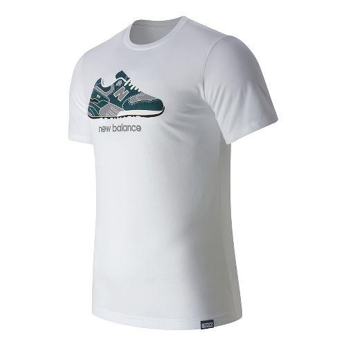 Mens New Balance Trip 9S Tee Short Sleeve Technical Tops - White S