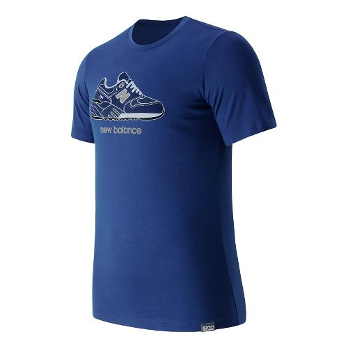 Mens New Balance Trip 9S Tee Short Sleeve Technical Tops - Atlantic M