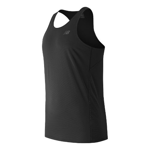 Mens New Balance Accelerate Singlet Sleeveless & Tank Technical Tops - Black XL