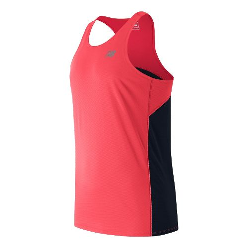 Mens New Balance Accelerate Singlet Sleeveless & Tank Technical Tops - Bright Cherry L