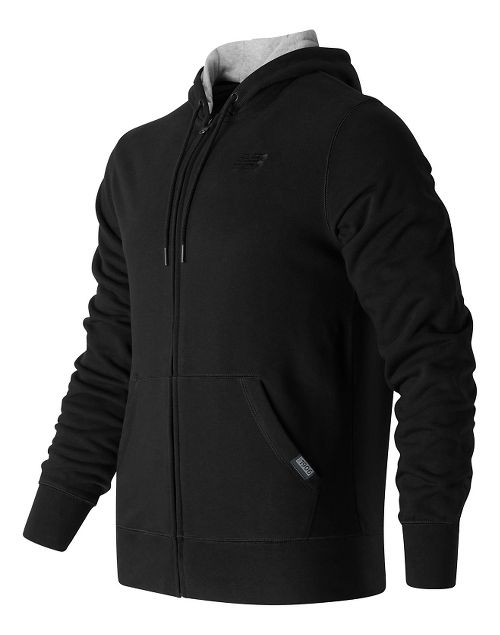 Mens New Balance Classic Full Zip Fleece Hoodie Casual Jackets - Black M