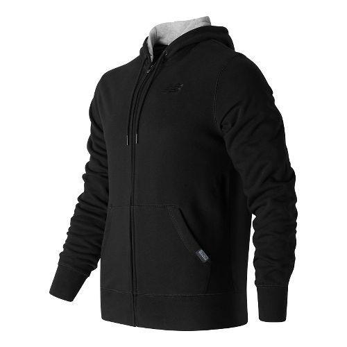 Mens New Balance Classic Full Zip Fleece Hoodie Casual Jackets - Black S