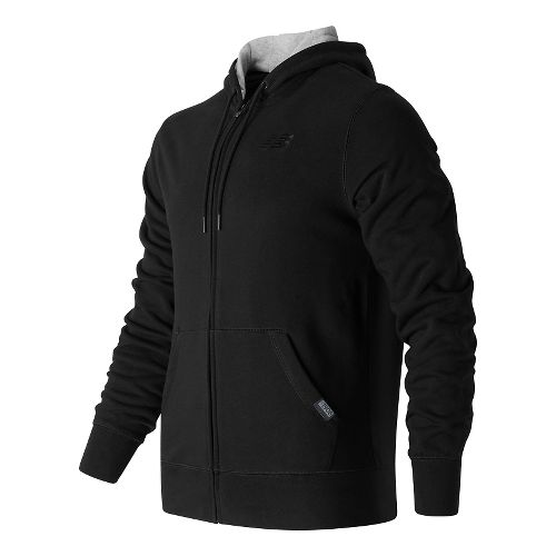 Mens New Balance Classic Full Zip Fleece Hoodie Casual Jackets - Black XXL