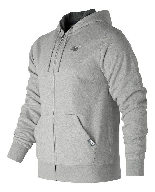 Mens New Balance Classic Full Zip Fleece Hoodie Casual Jackets - Athletic Grey M