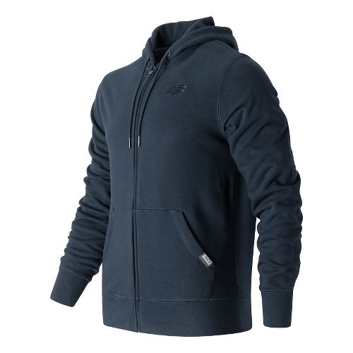 Mens New Balance Classic Full Zip Fleece Hoodie Casual Jackets - Navy M