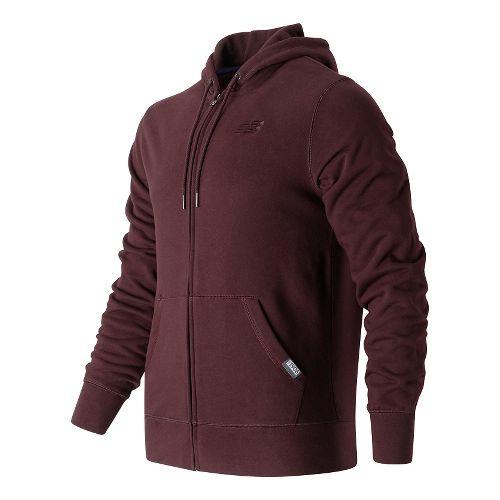 Mens New Balance Classic Full Zip Fleece Hoodie Casual Jackets - Supernova L