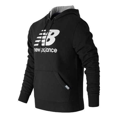 Mens New Balance Classic Pullover Hoodie & Sweatshirts Technical Tops - Black L