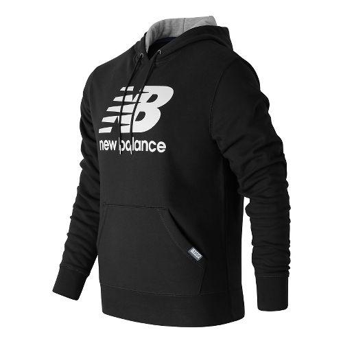 Mens New Balance Classic Pullover Hoodie & Sweatshirts Technical Tops - Black S