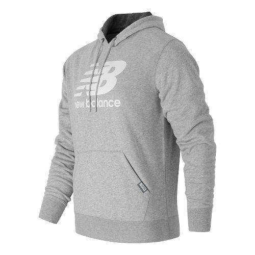 Mens New Balance Classic Pullover Half-Zips & Hoodies Technical Tops - Athletic Grey L