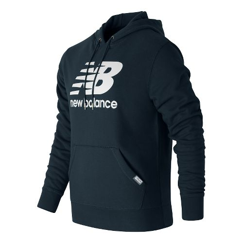 Mens New Balance Classic Pullover Hoodie & Sweatshirts Technical Tops - Navy XL