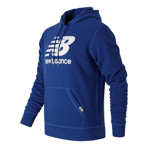 Mens New Balance Classic Pullover Hoodie & Sweatshirts Technical Tops - Atlantic M