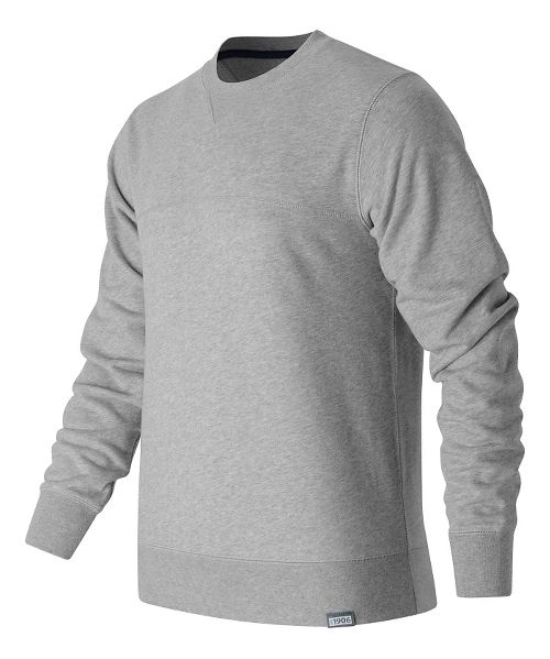Mens New Balance Classic Crew Neck Sweatshirt Half-Zips & Hoodies Technical Tops - Athletic Grey XL