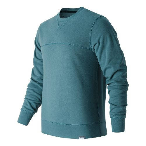Mens New Balance Classic Crew Neck Hoodie & Sweatshirts Technical Tops - Riptide M