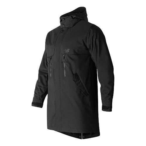 Mens New Balance Drop Tail Cold Weather Jackets - Black M