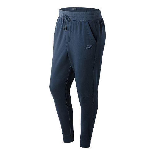 Mens New Balance Classic Tailored Sweatpants - Navy XXL
