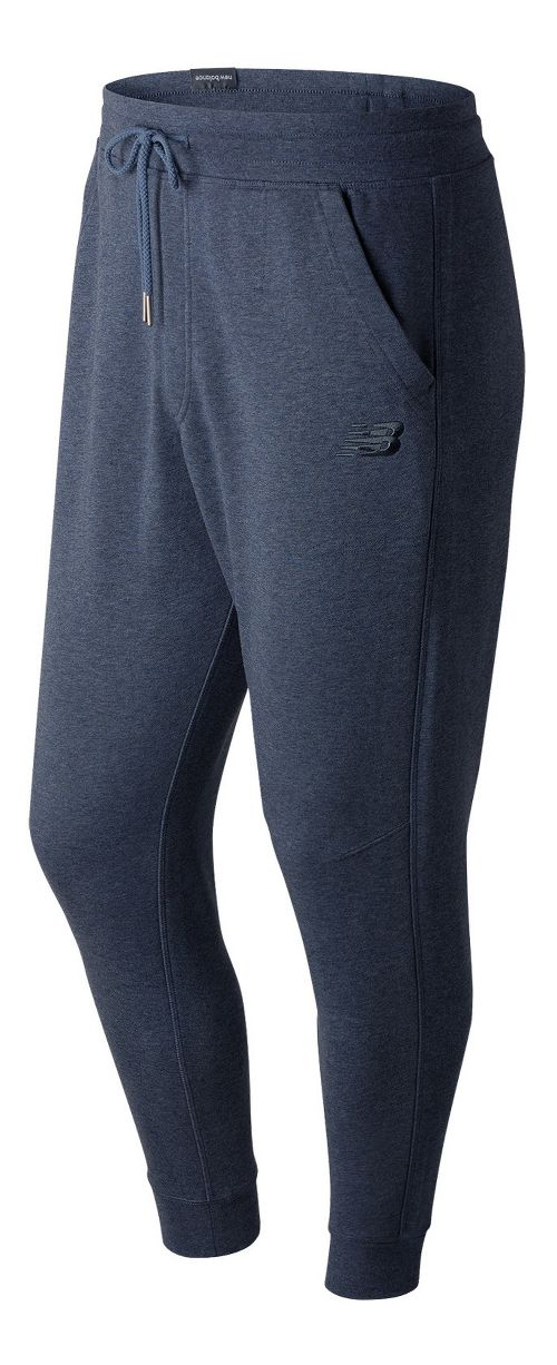 Mens New Balance Classic Tailored Sweatpants - Deep Porcelain Blue L