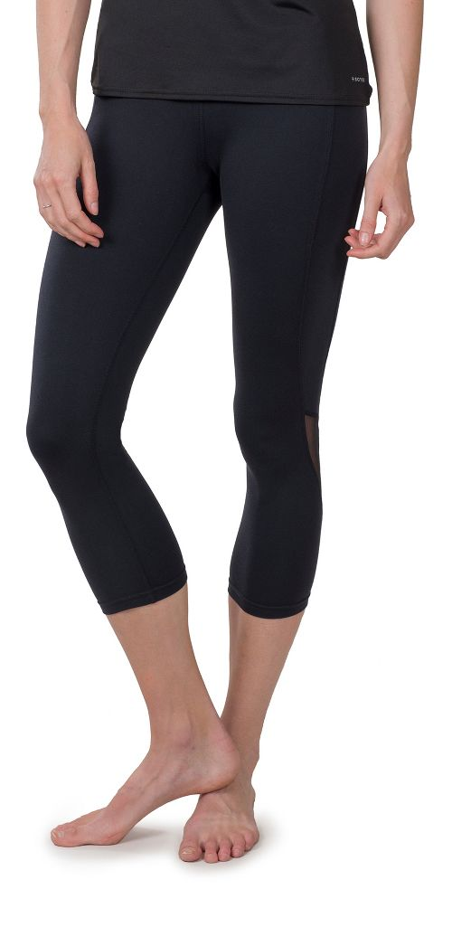 Womens Soybu Killer Caboose Hi-Rise Capris Pants - Black M